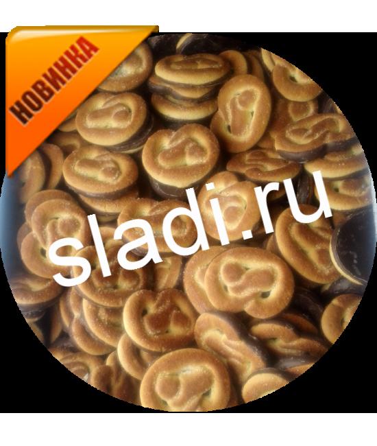 печенье Крендель в шоколадной глазури